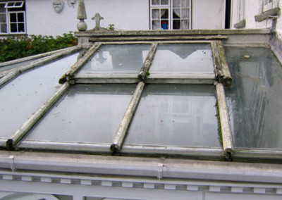 Conservatory wooden roof repairs