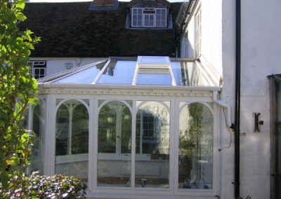 After-maintenance free roof caps and double glazed system