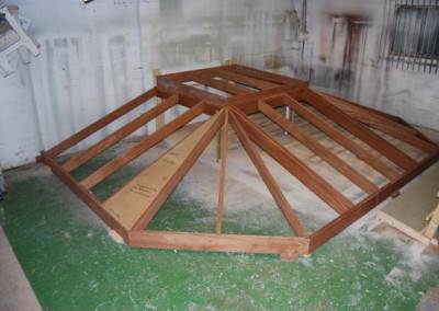 Bespoke timber roof in our workshop