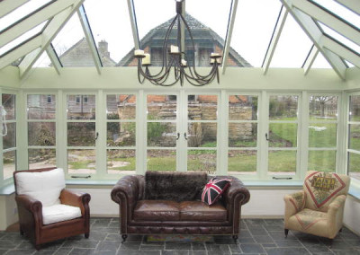 After-inside the newly refurbished conservatory