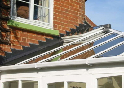 Single roof vent & traditional stepped lead flashings