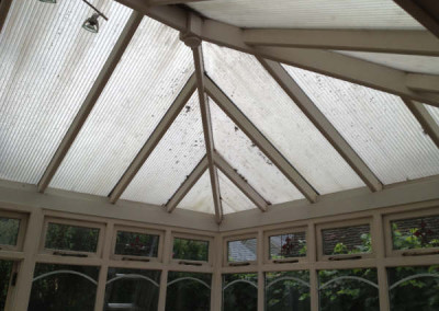 Polycarbonate roof-before