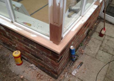 New hardwood spliced in
