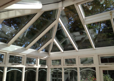 New double glazed roof